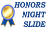 Image text reads: Honors Night Slide