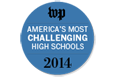 Image text reads: WP (logo for Washington Post) America's Most Challenging High Schools 2014.