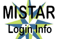 Image text reads: MISTAR Login Info