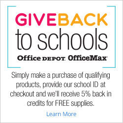 Give Back to Schools Office Depot Office Max